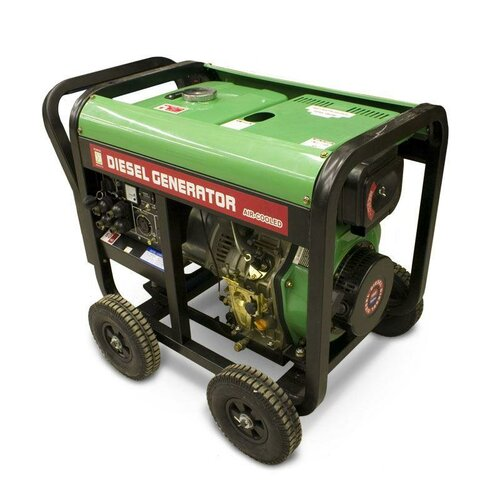 6,000 Watt Diesel Generator with Wheel Kit