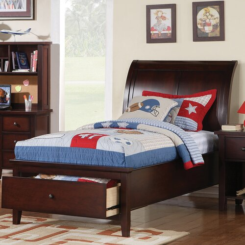 Vintage Twin Storage Sleigh Bed
