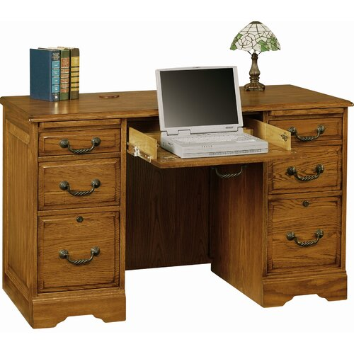 Winners Only, Inc. Heritage 6 Drawer Computer Desk & Reviews | Wayfair