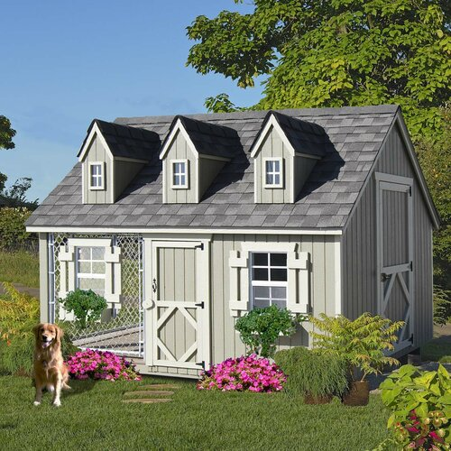 Little Cottage Company Cape Cod Cozy Cottage Kennel Dog House