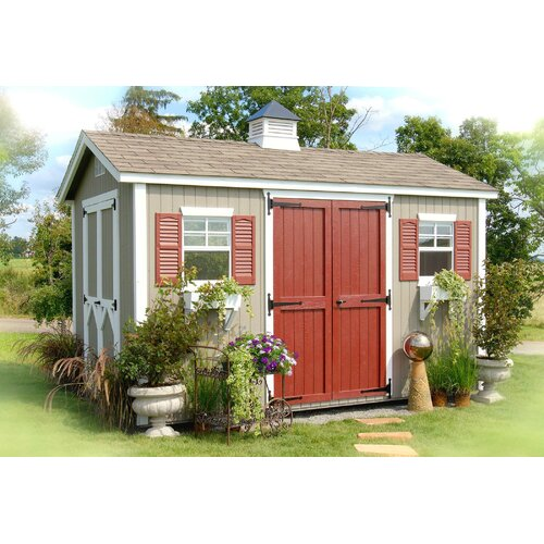 Little Cottage Company 12ft. W x 12ft. D Wood Garden Shed
