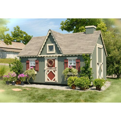 Victorian Backyard Playhouse : Little Cottage Company Victorian Playhouse Kit with Floor & Reviews