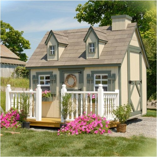 Little Cottage Company Cape Cod Playhouse Kit with Floor