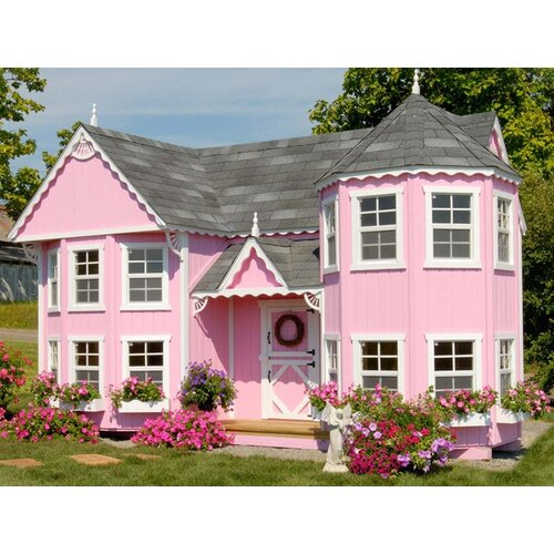 Little Cottage Company Sara's Victorian Mansion Playhouse Kit with Floor