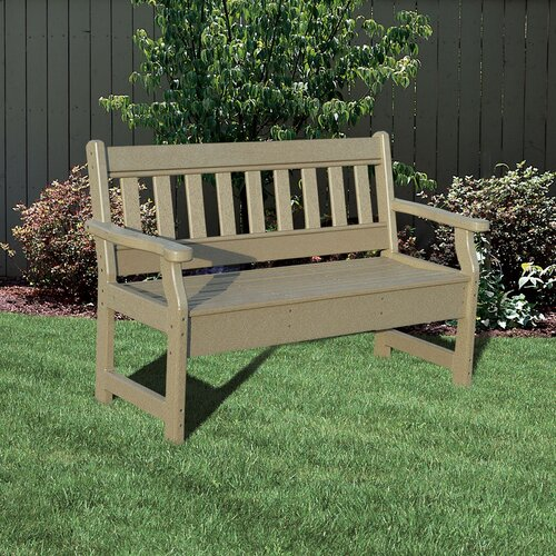 Little Cottage Company Poly Lumber Garden Bench