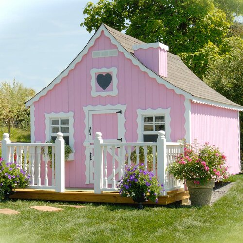 Little Cottage Company Gingerbread Playhouse Kit with Floor