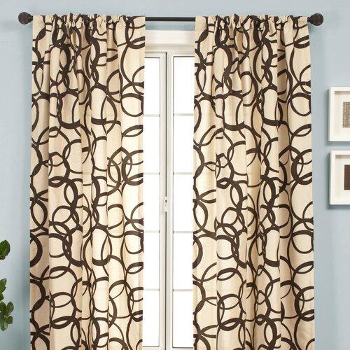 Softline Home Fashions Mia Rod Pocket Curtain Single Panel