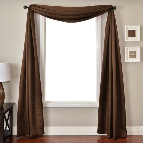 Softline Home Fashions Morin 6 Yard Single Window Scarf