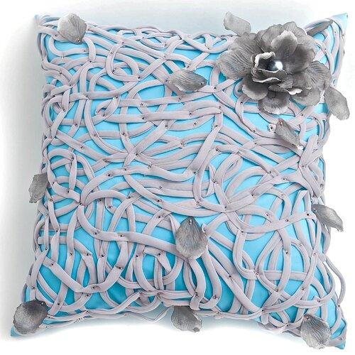 Veranda Polyester Tangled Flower Pillow