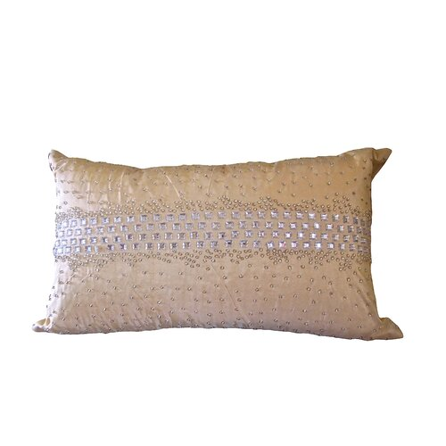 Debage Inc. Bling Silk Crystal Diamond Rectangular Pillow