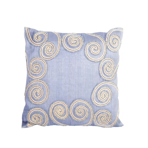 Sea Side Beaded Swirl Pillow