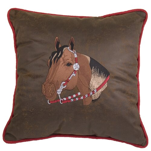 HiEnd Accents Tahoe Horse Polyester Pillow