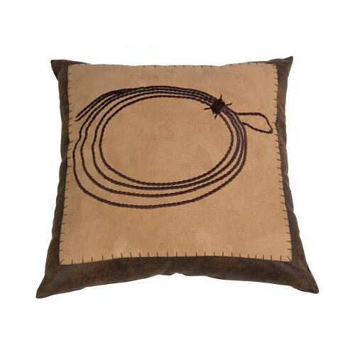 HiEnd Accents Barbwire Embroidered Rope Polyester Pillow