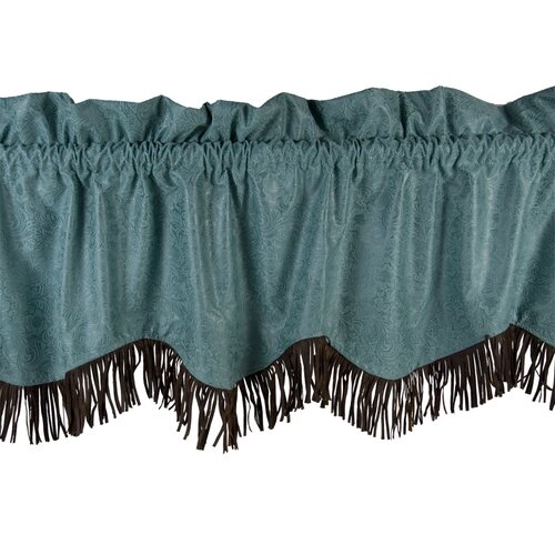 "HiEnd Accents Cheyenne Fringed 84"" Curtain Valance"