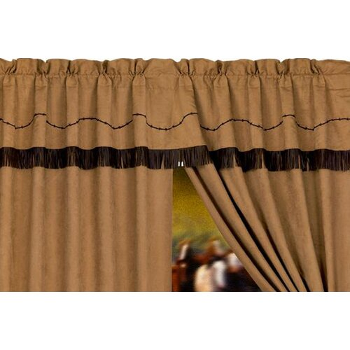 "HiEnd Accents Barbwire Rod Pocket Ruffled 84"" Curtain Valance"