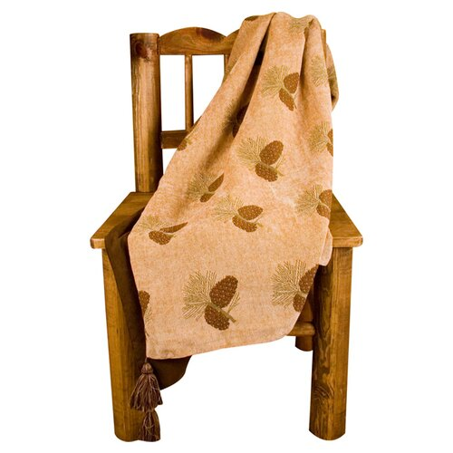 Pine Cones Reversible Polyester Throw