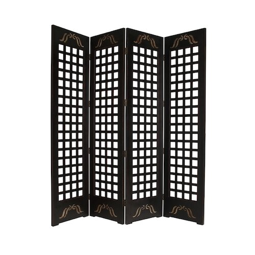 "Screen Gems 89"" x 84"" Omega Screen 4 Panel Room Divider"