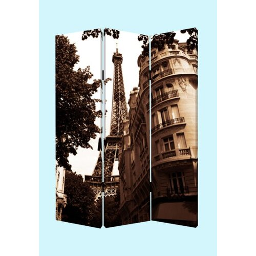 "Screen Gems 72"" x 48"" Paris Screen 3 Panel Room Divider"