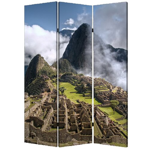 "Screen Gems 71"" x 47"" Machu Picchu 3 Panel Room Divider"