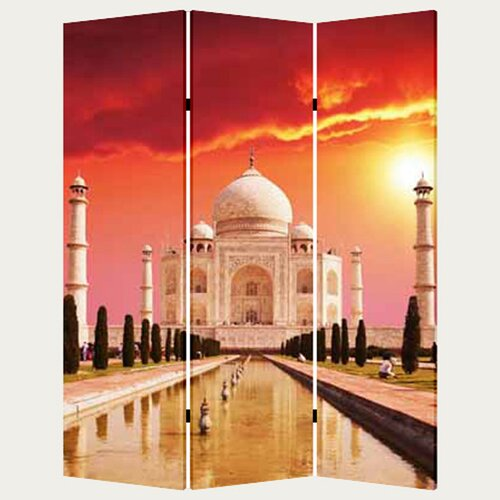 "Screen Gems 71"" x 47"" Taj Mahal 3 Panel Room Divider"