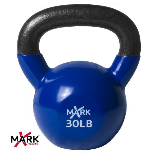 X-Mark 30 lb Premium Vinyl Coated Kettlebell