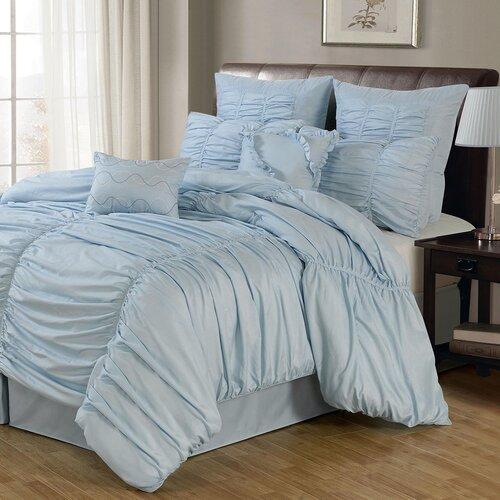 Lacozee Venetian Ruched 8 Piece Comforter Set Amp Reviews
