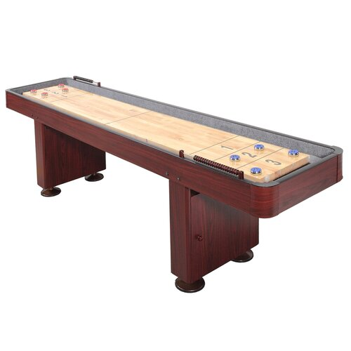 9ft or 12 ft. Shuffleboard Table in Walnut or Dark Cherry finish