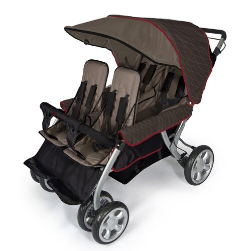 Foundations Quad LX Four Child Tandem Stroller