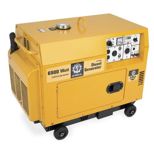 Steele Products  6500 Watt Diesel Generator with Mobility Kit