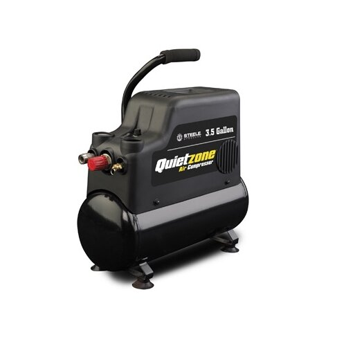 Steele Products 3 Gallon Quietzone Oil Free Air Compressor