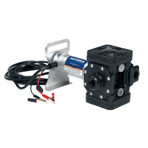 Series 400B Dual Diaphragm Chemical Transfer Pump with 12V DC Diaphragm Pump, Motor Bracket