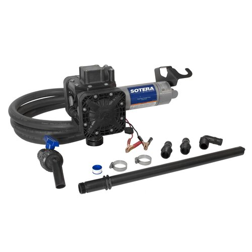 Series 400B Dual Diaphragm Chemical Transfer Pump with 12V DC Diaphragm Pump
