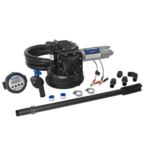 Series 400B Dual Diaphragm Chemical Transfer Pump with Mix N Go 12V, EPDM Seals