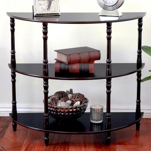 Mega home half moon console table reviews wayfair for Half moon console table