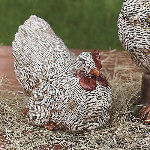 Casual Country Ceramic Hen Statue