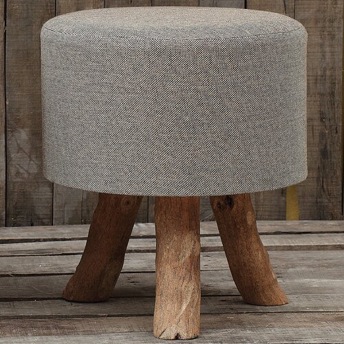 Creative Co-Op Jute and Wood Stool