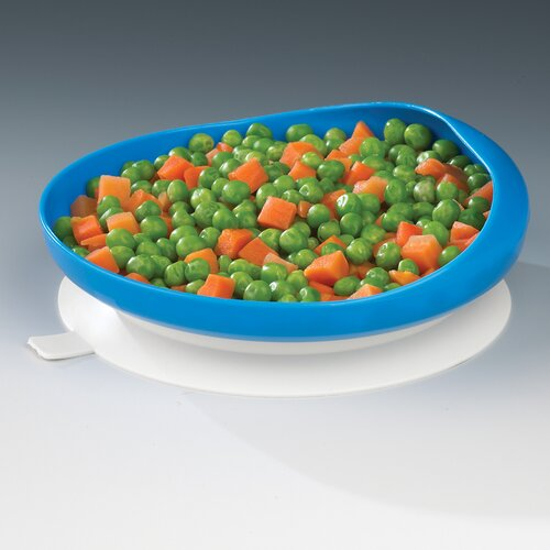 Ableware Scooper Plate Eating Aid with Suction Cup Base