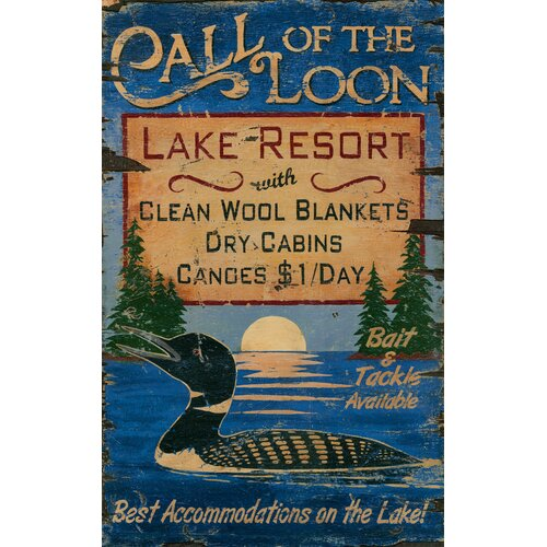 Vintage Signs Call of the Loon Vintage Advertisement Plaque