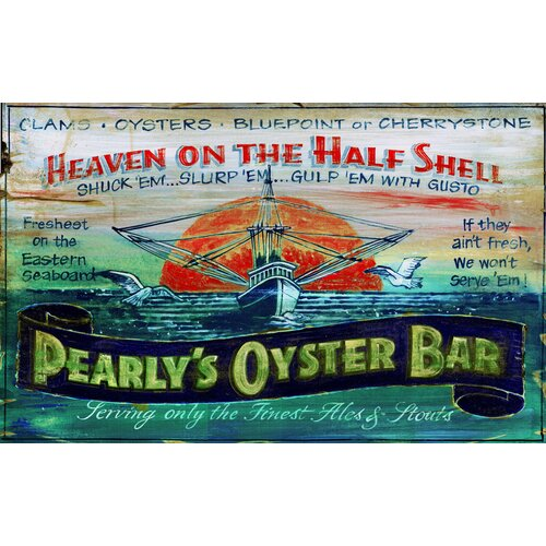 Vintage Signs Pearly's Oyster Vintage Advertisement Plaque