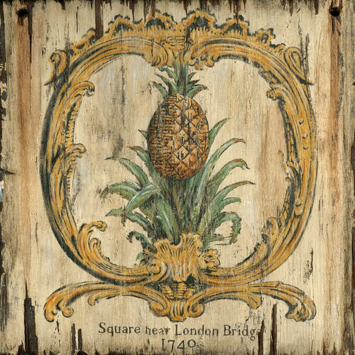 Pineapple Graphic Art Plaque