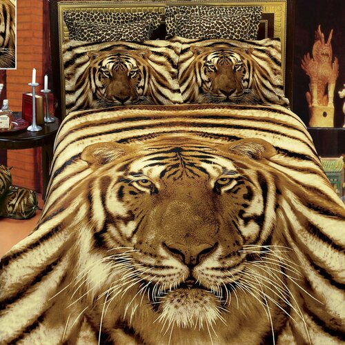 Dolce Mela Siberian Tiger 6 Piece Duvet Cover Set