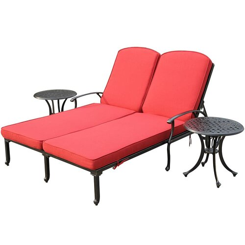 Kontiki Bordeaux 3 Piece Chaise Lounge Set