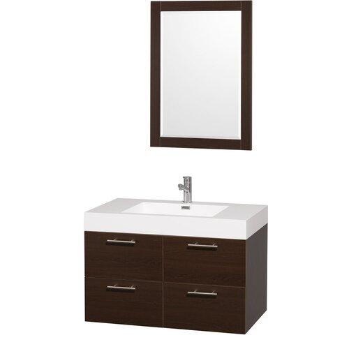 "Wyndham Collection Amare 35"" Single Bathroom Vanity Set"
