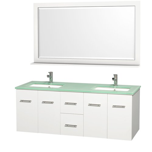 "Wyndham Collection Centra 60"" Double Bathroom Vanity Set"