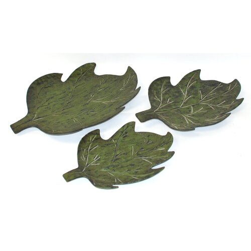 Firefly Home Collection 3 Piece Green Leaves Set
