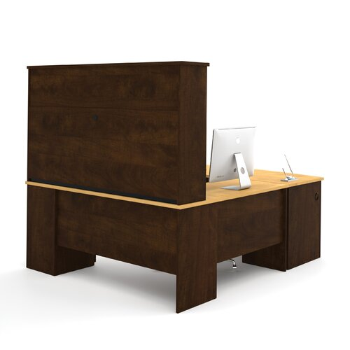Bestar Manhattan U-Shape Executive Desk with Hutch