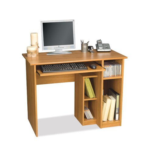 Bestar Basic Computer Work Station In Cappuccino Cherry