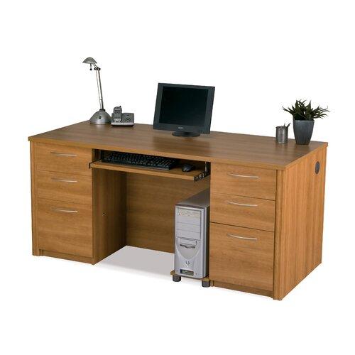 Bestar Embassy Executive Desk Kit Including Assembled Pedestals
