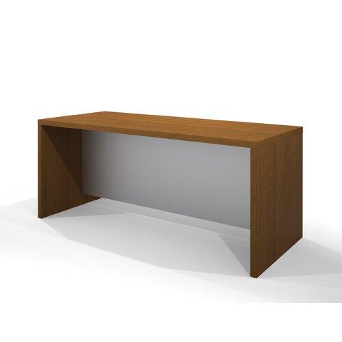 Bestar Pro-Linea Executive Desk in Cognac Cherry
