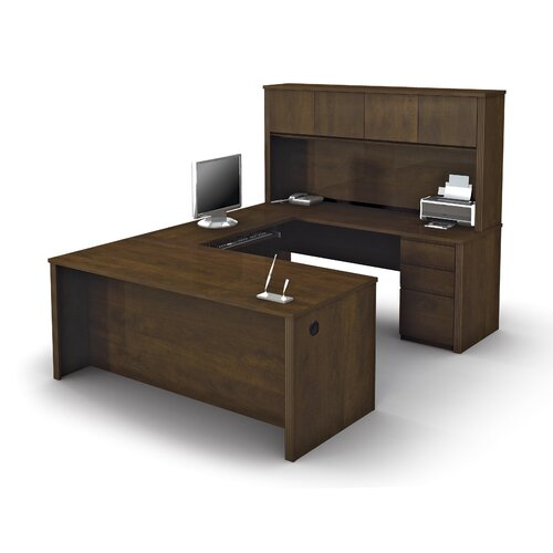 Bestar Prestige + U-Shaped Workstation Kit